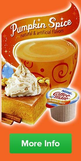 Buy Pumpkin Spice Coffee-mate Creamer, Holiday Seasonal Flavors, While Supplies Last!