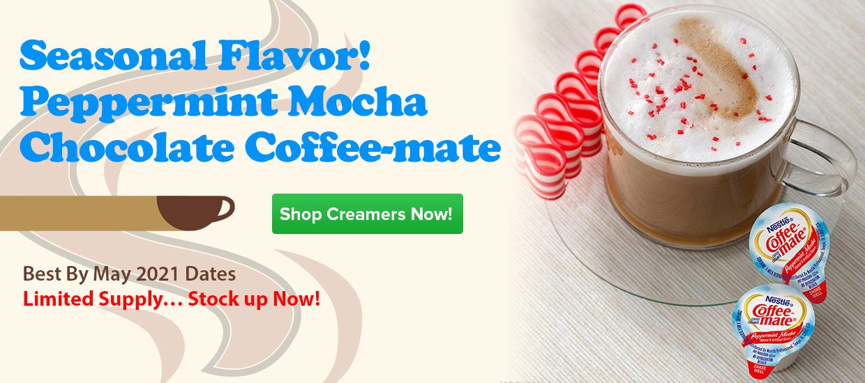 Buy Coffee-mate Peppermint Mocha Non-Dairy Creamers, Chocolate Flavored Coffee, Nestle Hot Beverages.