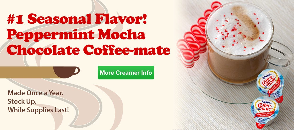 Shop Peppermint Mocha Coffee-mate Creamer, Made Once a Year. Stock Up, While Supplies Last!