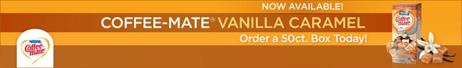Coffee-mate Vanilla Caramel Liquid Creamer 50 ct. box