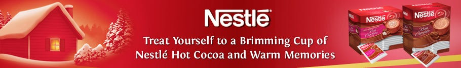 Treat yourself to a cup of Nestle Hot Cocoa!