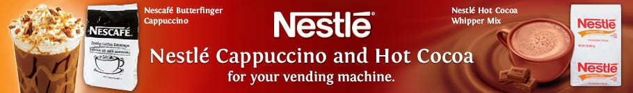 Nestle Vending Cappuccino and Vending Hot Chocolate Mix