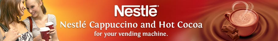 Nestle Cappuccino and Hot Cocoa for your vending machine