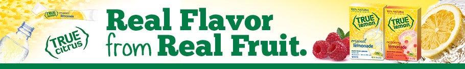 True Lemon, Natural Citrus Fruit Flavors – Lemonade, Raspberry!