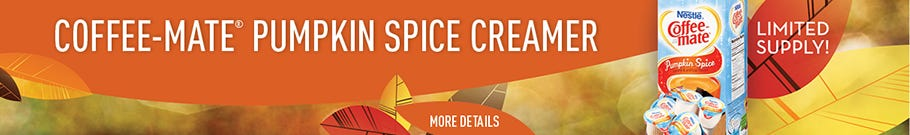 Adding new products daily like seasonal Coffee-mate Pumpkin Spice Coffee Creamer.