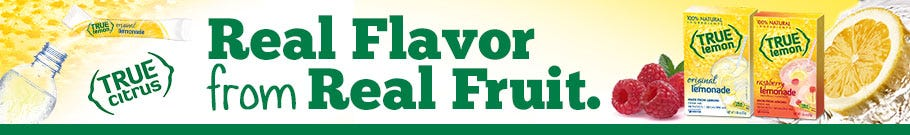 Real Flavor from Real Fruit. True Citrus