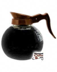 Coffee Pot Glass Bowl Brown Handle