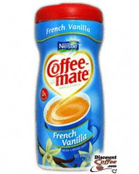 French Vanilla Nestle Coffee-mate Creamer Canisters