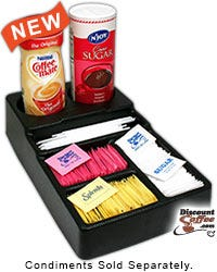 Small Black Plastic Condiment Tray