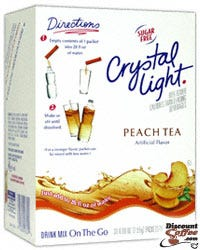 Peach Tea Crystal Light On The Go Drink Mix - Bottled Water