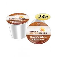 Santa's White Christmas Barnie's Coffee Kitchen Single Cup Coffee