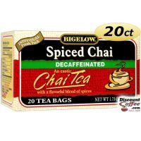 Bigelow Spiced Chai Decaf Chai Tea 20 ct. Box | Decaffeinated Black Tea, Gluten Free, Kosher