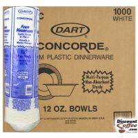Dart 12 oz. White Styrofoam Bowls