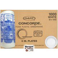 Dart Concorde 6 inch Styrofoam Plates