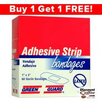 Adhesive Strip Bandages by Green Guard 60/Box
