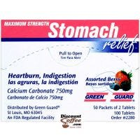 Maximum Strength Stomach Relief, 100 Heartburn, Indigestion Tablets, Assorted Berry Flavor Calcium Carbonate,