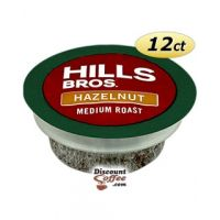 Hills Bros Hazelnut Flavored Coffee   Single Serve K-Cup Pods for Keurig Brewers