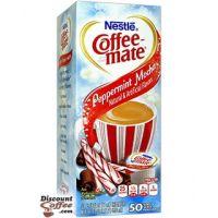 Peppermint Mocha Coffee-mate 50 ct. Tub Dispenser Box | Holiday Seasonal Chocolate Flavored Creamer