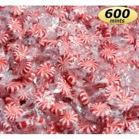Peppermint Starlight Mint Hard Candy | Breath Fresheners for Office Candy Jars, Restaurants, Hospitality.