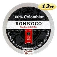 100% Colombian Ronnoco One Cup Coffee