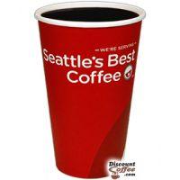 16 oz. Seattle's Best Logo Paper Hot Cups 1,000/Case