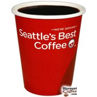 8 oz. Seattle's Best Logo Paper Hot Cups 1,000/Case