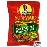 Oatmeal Raisin Apple Sun-Maid Cookies 60/Case