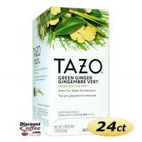Tazo Green Ginger Tea 24 ct. Box | Green Tea, Spicy Ginger, Sweet Pear Essence Flavored Hot Tea Bags.