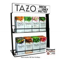 Tazo Tea Metal Wire Display Rack   2 Shelf Commercial Grade Tazo Brand Rack Displays 8 Tea Boxes.