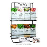 Tazo Tea Metal Wire Display Rack | 2 Shelf Commercial Grade Tazo Brand Rack Displays 8 Tea Boxes.