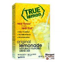 True Lemon Original Lemonade Mix 10 ct.   Bottled Water Naturally Flavored Drink Sticks, Stevia Sweetened