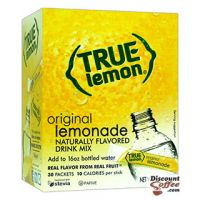 True Lemonade Drink Mix, Original Natural Lemon Flavored On The Go Sticks   Stevia Sweetened