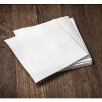 """Recycled Paper Lunch Napkins, 11.5"""" x 12.5"""", 1/4 Fold, 1 Ply Cascade Pro Select N020 White Luncheon Napkins."""