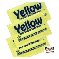 Yellow Zero Calorie Sweetener Packets