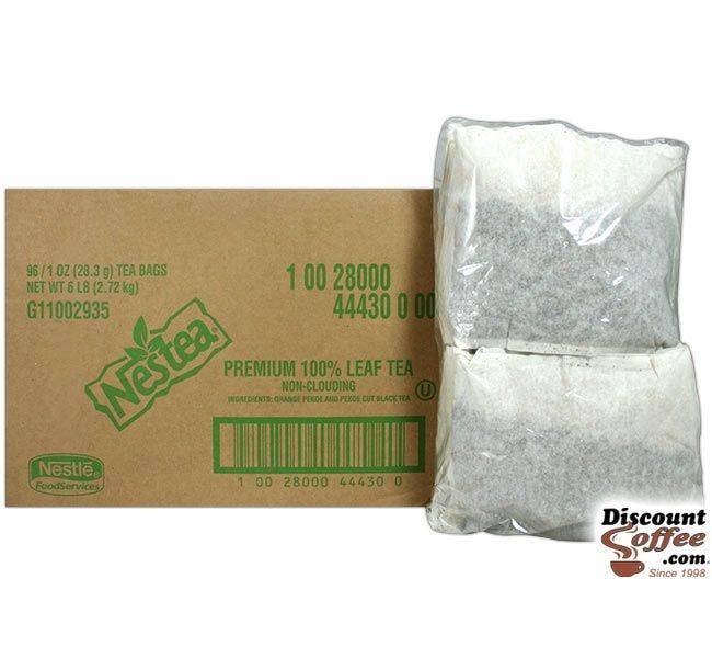 1 Gallon Nestea Iced Tea Filter Pouches | Foodservice 96 ct. Case Brews 96 Gallons Non-Clouding Urn Tea, 100% Leaf Tea, Kosher.