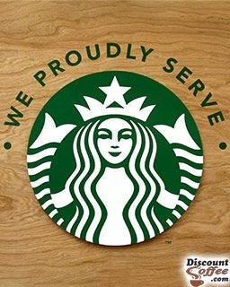 Starbucks Coffeehouse Shops Advertising Logo Printed Cups | 16 oz. Grande Paper Hot Cups