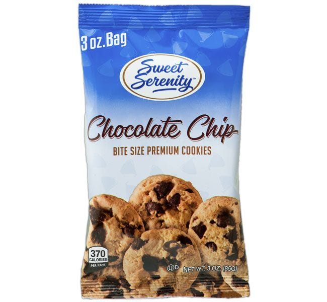 3 ounce Chocolate Chip Cookies | Sweet Serenity Bite Size Chocolate Chip Vending Machine Snacks