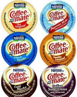 6 Coffee-mate Flavored Creamers | Original, French Vanilla, Cafe Mocha, Vanilla Caramel, Italian Sweet Creme, Peppermint Mocha