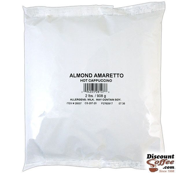 Almond Amaretto Cappuccino Vending Mix 2 lb. Bag | Refills Commercial Hot Beverage Hopper Machine, Foodservice 6 Bag, 12 lb. Case.