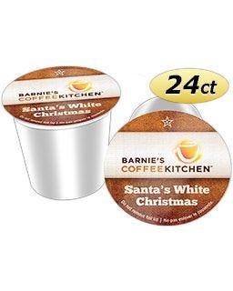 Barnie's Coffee Kitchen Santa's White Christmas, Medium Roast | Keurig® K-Cup® Coffee Maker Compatible