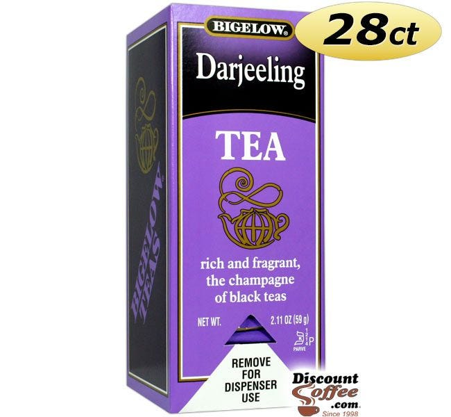 Bigelow Darjeeling Tea Bags 28 ct. Box | Single Cup Tea Known as the Champagne of Black Teas, Fragrant, Rich Flavor.