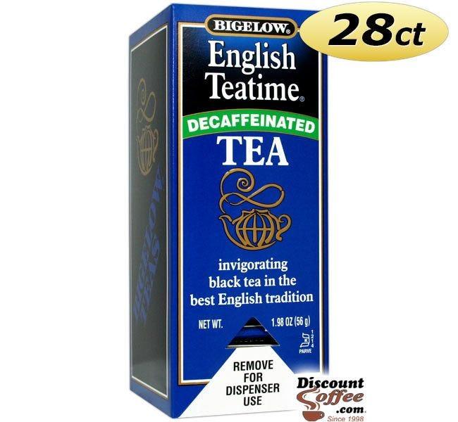 Bigelow Decaf English Teatime Tea Bags 28 ct. Box | Single Cup Black Tea Hot Beverage Drink. Gluten Free, Kosher.