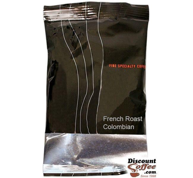 Cadillac French Roast Colombian Coffee | Ground Dark Espresso Roast Gourmet Coffee, 2 oz. Packs, 24 ct. Case.