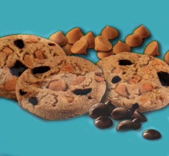 Caramel Sea Salt Chocolate Chip Cookies, Sweet Serenity Ghirardelli Chocolate, 3 oz. Snack Bags, Biscomerica, Kosher