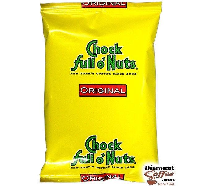 Chock full o'Nuts Original Coffee | 42, 1.5 oz. bags, Medium Roast Ground Coffee, 100% Arabica, Kosher