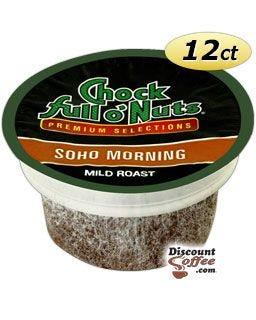 Soho Morning Chock full o'Nuts K-Cup® Coffee for Keurig® Coffee Makers, Light / Mild Roast Breakfast Blend Coffee