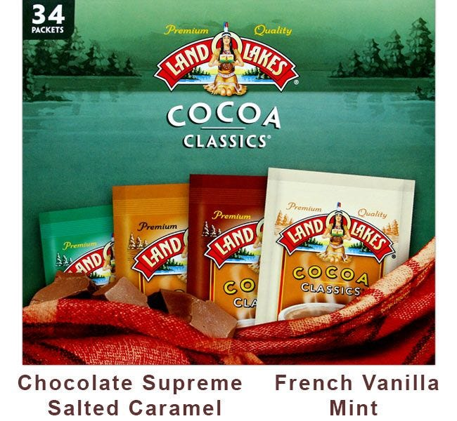 Cocoa Classics Variety Pack 4 Flavor Assortment | 34 Gourmet Chocolate Supreme Packets, French Vanilla, Mint, Salted Caramel