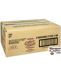 Italian Sweet Creme Carnation CoffeeMate Liquid Creamers - 180 Count Bulk Case