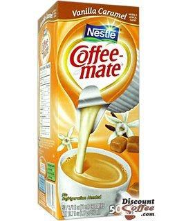 Vanilla Caramel Nestle Coffee-mate Liquid Flavored Creamer Single Tubs