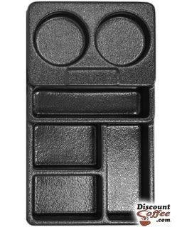 Small Black Plastic Condiment Tray